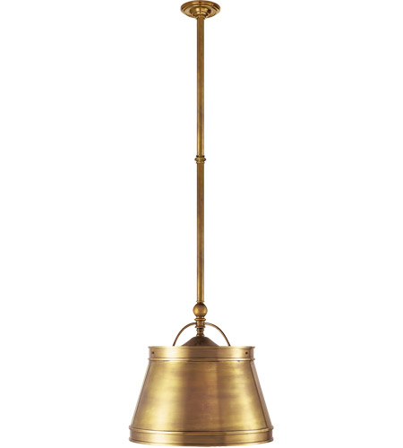 Visual Comfort CHC5101AB-AB E. F. Chapman Sloane 2 Light 16 inch Antique-Burnished Brass Hanging Shade Ceiling Light in Antique Brass photo