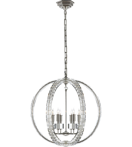 Visual Comfort CHC5130PN E. F. Chapman Crystal Cube 6 Light 19 inch Polished Nickel Pendant Ceiling Light photo