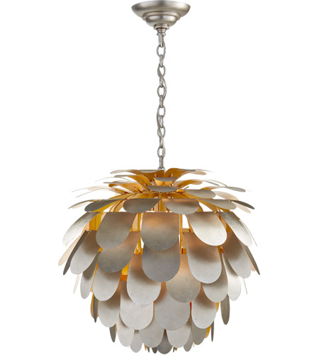 Visual Comfort CHC5157BSL E. F. Chapman Cynara 1 Light 29 inch Burnished Silver Leaf Chandelier Ceiling Light, Large photo