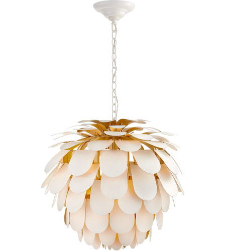 Visual Comfort CHC5157WHT/G E. F. Chapman Cynara 1 Light 29 inch Plaster White Chandelier Ceiling Light, Large photo