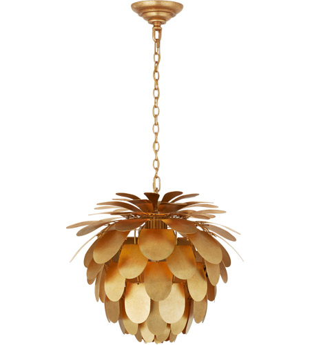 Visual Comfort CHC5163G E. F. Chapman Cynara 1 Light 17 inch Gild Chandelier Ceiling Light, Small photo