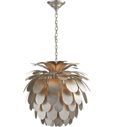 Visual Comfort CHC5165BSL E. F. Chapman Cynara 1 Light 23 inch Burnished Silver Leaf Chandelier Ceiling Light, Medium photo