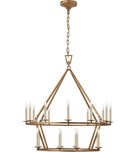 Visual Comfort CHC5178GI E. F. Chapman Darlana 20 Light 30 inch Gilded Iron Chandelier Ceiling Light photo
