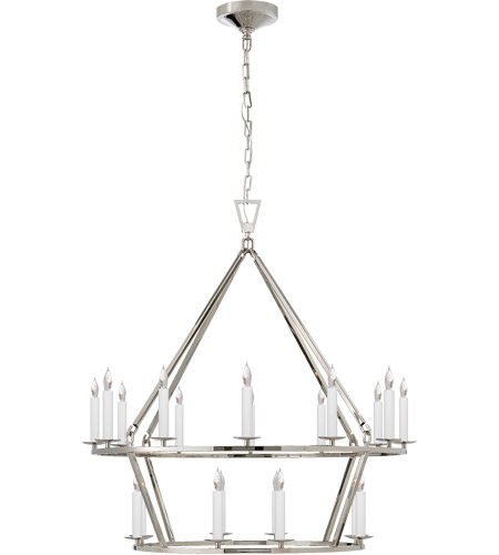 Visual Comfort CHC5178PN E. F. Chapman Darlana 20 Light 30 inch Polished Nickel Chandelier Ceiling Light photo