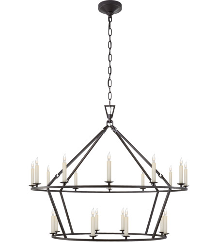 Visual Comfort CHC5179AI E. F. Chapman Darlana 20 Light 40 inch Aged Iron Chandelier Ceiling Light photo