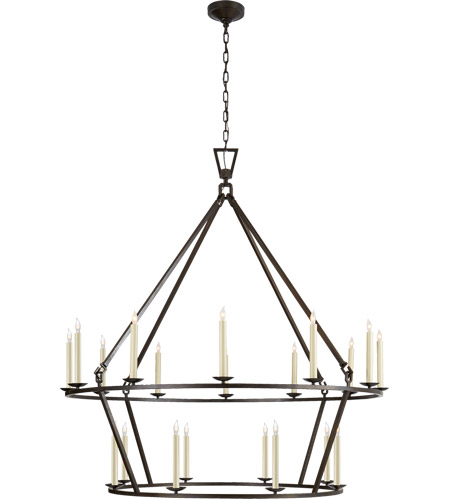 Visual Comfort CHC5199AI E. F. Chapman Darlana 20 Light 50 inch Aged Iron Chandelier Ceiling Light photo