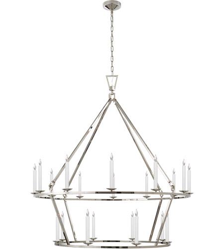 Visual Comfort CHC5199PN E. F. Chapman Darlana 20 Light 50 inch Polished Nickel Chandelier Ceiling Light photo