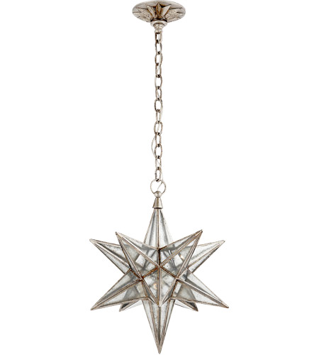 visual comfort e f chapman moravian star 1 light 18 inch burnished silver leaf pendant ceiling light