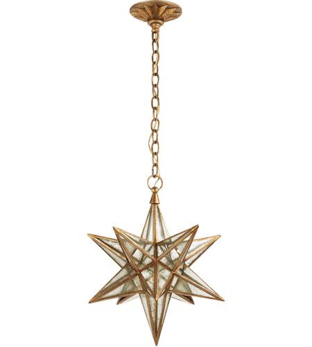 Visual Comfort CHC5211GI-AM E  F  Chapman Moravian Star 1 Light 18 inch  Gilded Iron Pendant Ceiling Light
