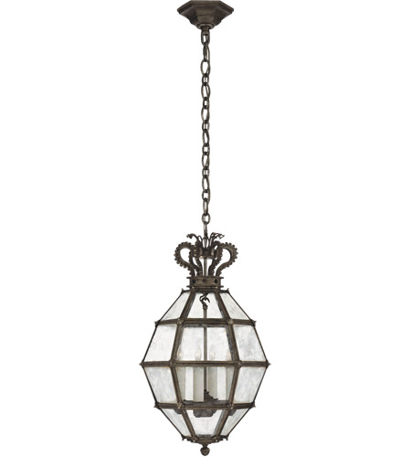 Visual Comfort CHC5261AI-AM Chapman & Myers Venezia 4 Light 14 inch Aged Iron Faceted Scroll-Top Lantern Pendant Ceiling Light, Small photo