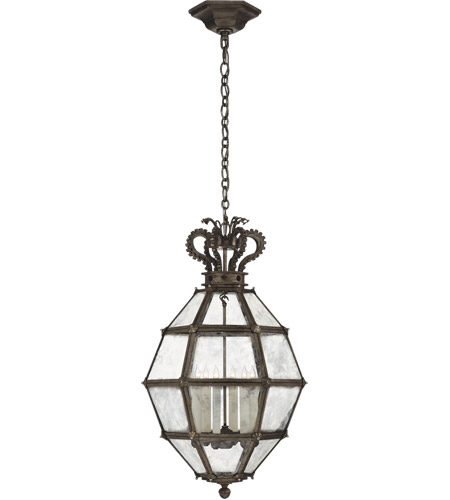 Visual Comfort CHC5262AI-AM Chapman & Myers Venezia 6 Light 20 inch Aged Iron Faceted Scroll-Top Lantern Pendant Ceiling Light, Medium photo