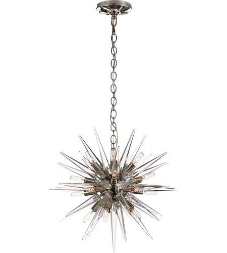 Visual Comfort CHC5286PN-CA E. F. Chapman Quincy 20 Light 20 inch Polished Nickel Pendant Ceiling Light, E.F. Chapman, Small, Sputnik, Clear Acrylic Shade photo