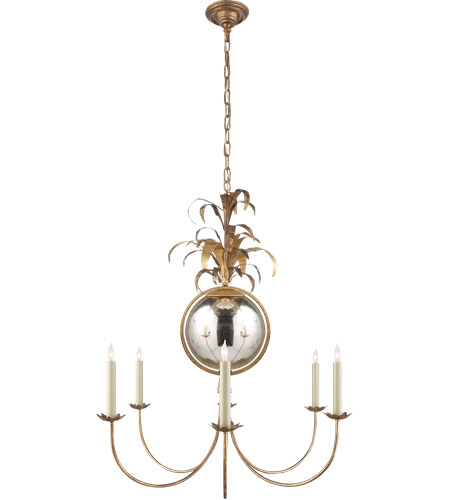 Visual Comfort Chc5373gi E F Chapman Gramercy 6 Light 33 Inch Gilded Iron Chandelier Ceiling