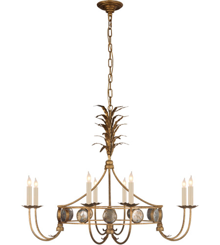 Visual Comfort Chc5377gi E F Chapman Gramercy 8 Light 36 Inch Gilded Iron Chandelier Ceiling Medium Ring