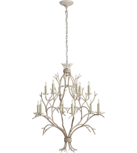 Visual Comfort CHC5470OW E. F. Chapman Branch 12 Light 33 inch Old White Chandelier Ceiling Light photo