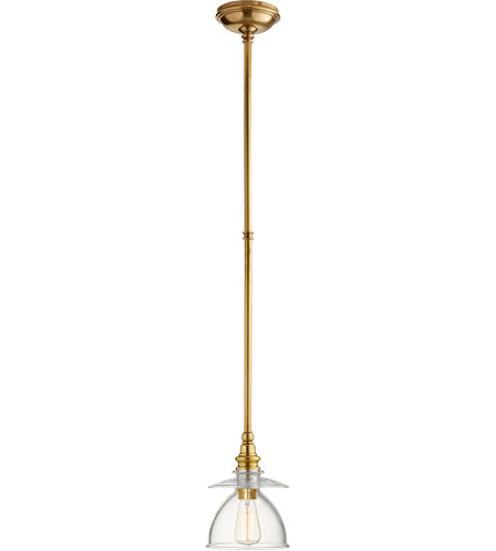 Visual Comfort CHC5473AB-CG E. F. Chapman Covington 8 inch Antique Burnished Brass Pendant Ceiling Light, E.F. Chapman, Clear Glass  photo
