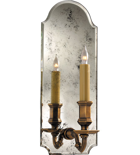 Visual Comfort Chd1172am Ab E F Chapman Kensington 1 Light 6 Inch Antique Mirror With Br Decorative Wall