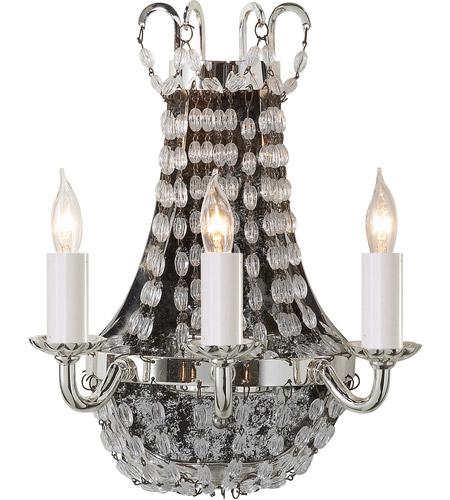 Visual Comfort Chd1409ps Sg E F Chapman Paris Flea Market 3 Light 7 Inch Polished Silver Decorative Wall Light