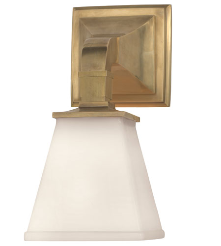 Visual Comfort CHD1510AB-WG E.F. Chapman Angle 1 Light 5 inch Antique-Burnished Brass Bath Wall Light in Antique Burnished Brass photo