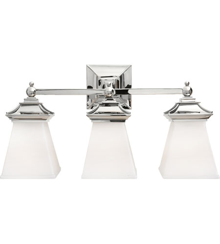Bathroom Vanity Lights Polished Nickel visual comfort chd1517pn-wg e. f. chapman chinoiserie 3 light 21