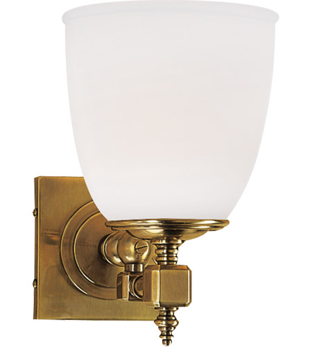 Visual Comfort CHD1531AB-FG E. F. Chapman Essex 1 Light 6 inch Antique-Burnished Brass Single Formal Sconce Wall Light photo