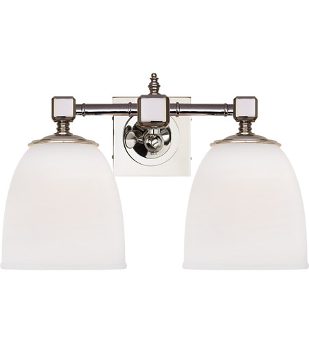 Visual Comfort CHD1532PN-FG E. F. Chapman Essex 2 Light 15 inch Polished Nickel Double Formal Sconce Wall Light photo