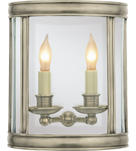 Visual Comfort CHD2000AN E. F. Chapman Edwardian 2 Light 10 inch Antique Nickel Wall Lantern photo