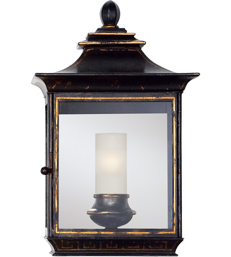 Visual Comfort CHD2031OBT E. F. Chapman Regency 1 Light 16 inch Old Black Tole Wall Lantern photo