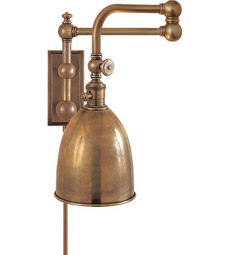 Pimlico Wall Lamp In Glass : Visual Comfort CHD2150AB-AB E. F. Chapman Pimlico 28 inch 60 watt Antique-Burnished Brass Swing ...