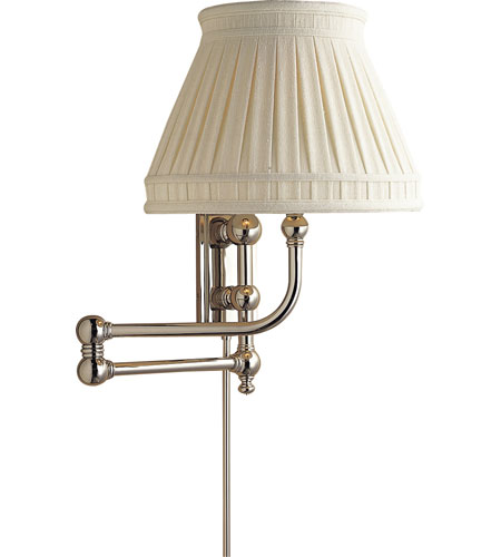 Visual Comfort E.F. Chapman Pimlico 1 Light Swing-Arm Wall Light in Polished Nickel CHD2154PN-LCC photo