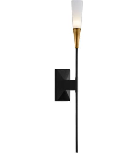 Visual Comfort CHD2601BLK Chapman & Myers Stellar LED 3 inch Matte Black and Brass Single Tail Sconce Wall Light photo
