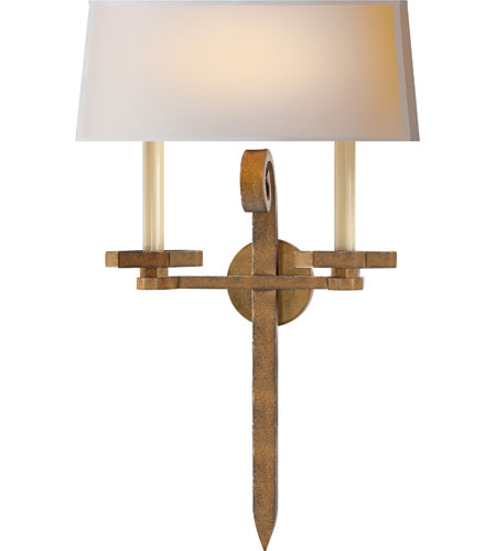 Visual Comfort CHD2710GI-NP E.F. Chapman Grafton 2 Light 15 inch Gilded Iron Decorative Wall Light photo