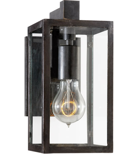 Visual Comfort CHD2930AI-CG E. F. Chapman Fresno Framed 1 Light 11 inch Aged Iron Outdoor Wall Lantern photo