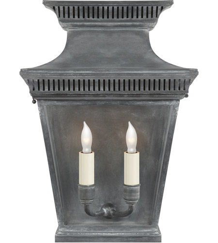 Visual Comfort CHD2950WZ E. F. Chapman Elsinore 2 Light 16 inch Weathered Zinc Wall Lantern photo