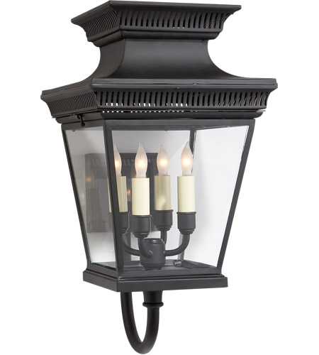 Visual Comfort CHD2952BLK E. F. Chapman Elsinore 4 Light 21 inch Hand Painted Black Wall Lantern photo