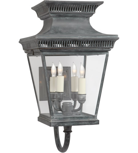 Visual Comfort CHD2952WZ E. F. Chapman Elsinore 4 Light 21 inch Weathered Zinc Wall Lantern photo
