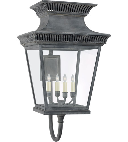 Visual Comfort CHD2953WZ-CG E. F. Chapman Elsinore 4 Light 31 inch Weathered Zinc Outdoor Wall Lantern, Large photo