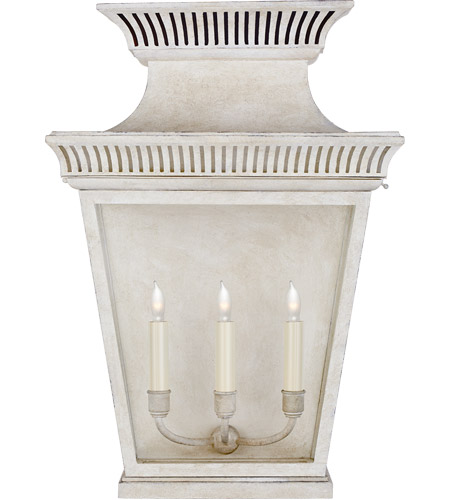 Visual Comfort CHD2955OW-CG E. F. Chapman Elsinore 3 Light 24 inch Old White Outdoor Wall Lantern, Large photo