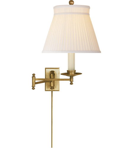 Visual Comfort Chd5101ab Sc E F Chapman Dorchester 22 Inch 100 Watt Antique Burnished Br Swing Arm Wall Light In Silk