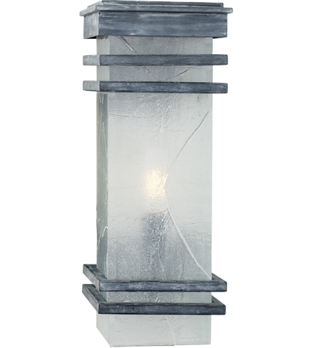 Visual Comfort CHO2013WZ-TG E. F. Chapman Mission 2 Light 20 inch Weathered Zinc Outdoor Wall Lantern, E.F. Chapman, Medium, Banded, Clear Textured Glass photo