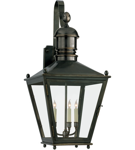 Visual Comfort E.F. Chapman Sussex 3 Light Outdoor Wall Lantern in Bronze CHO2033BZ photo