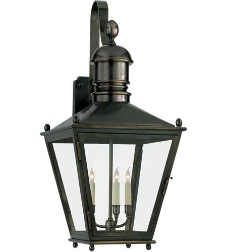 E F Chapman Sus 3 Light 36 Inch Bronze Outdoor Wall Lantern