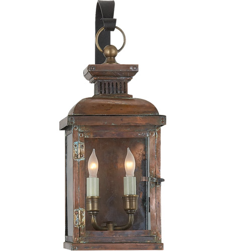 Wall Copper Lantern : Visual Comfort E.F. Chapman Suffork 2 Light Outdoor Wall Lantern in Natural Copper CHO2061NC