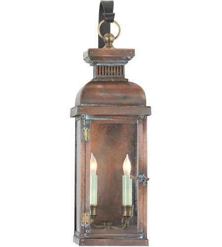 Visual Comfort CHO2064NC E. F. Chapman Suffork 2 Light 22 inch Natural Copper Outdoor Wall Lantern photo