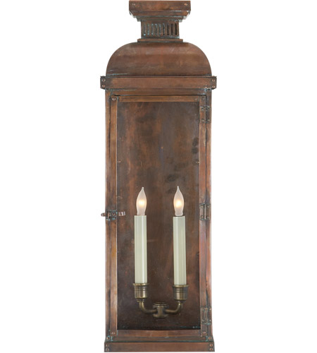Visual Comfort CHO2065NC E. F. Chapman Suffork 2 Light 24 inch Natural Copper Outdoor Wall Lantern photo