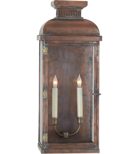 Visual comfort cho2066nc e f chapman suffork 2 light 24 inch visual comfort cho2066nc e f chapman suffork 2 light 24 inch natural copper outdoor wall lantern photo workwithnaturefo
