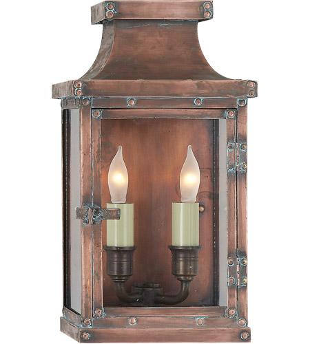Visual Comfort Cho2150nc E F Chapman Bedford 2 Light 12 Inch Natural Copper Outdoor Wall Lantern