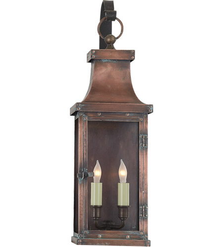 Visual Comfort CHO2153NC E. F. Chapman Bedford 2 Light 23 inch Natural Copper Outdoor Wall Lantern photo