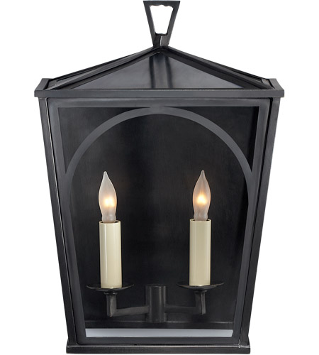 Visual Comfort CHO2350BZ-CG E. F. Chapman Darlana 2 Light 14 inch Bronze Outdoor Sconce, E.F. Chapman, Small, Arc, Clear Glass photo