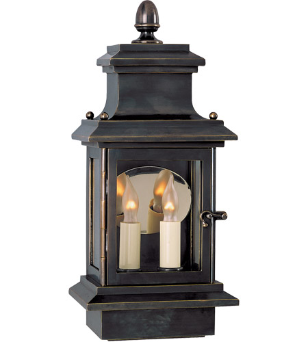 Visual Comfort CHO2401BZ E. F. Chapman Club Door 2 Light 14 inch Bronze Outdoor Wall Lantern photo
